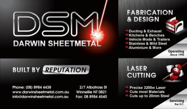 Darwin Sheet Metal graphic design