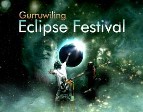 Gurruwiling Eclipse Festival graphic design