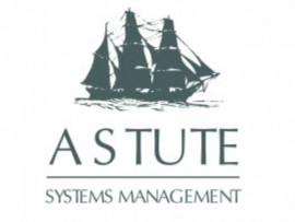 Astute System Management logo design
