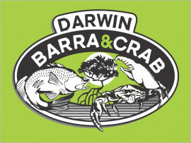 Darwin Barra and Crab logo design