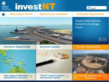 NT Government - InvestNT multi lingual website